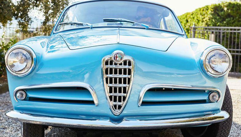 L'Alfa Romeo Giulietta Sprint di Piero Pelù al Salone dell'auto di Padova