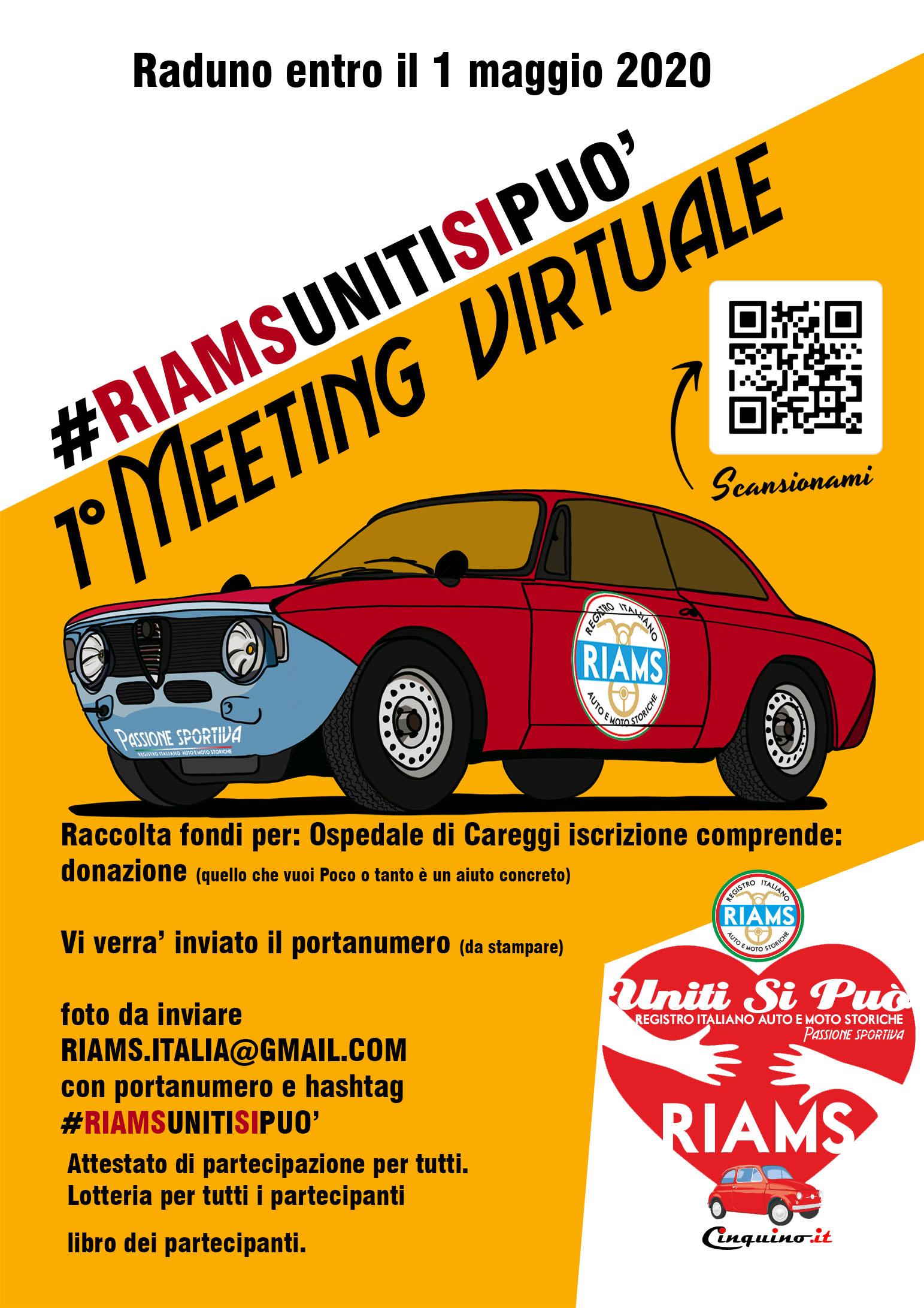 1° Meeting Virtuale  #RiamsUnitiSiPuo' #Cinquino.it #RiamsPassioneSportiva